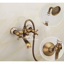 clawfoot tub faucet wall mount bathroom