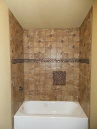 tub surround with single built in shower shelf marazzi montagna tile bathtub surround