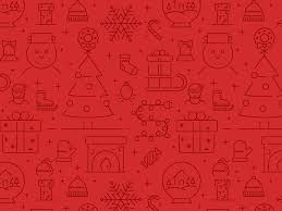 Christmas Pattern Enchanting Christmas Icons Pattern By Zlatko Najdenovski Dribbble
