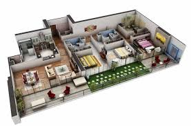 3d floor plans 3d house simple home design plans indian style 3d