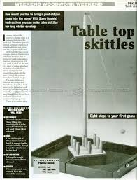 Skittles Wooden Board Game Table Skittles Plans WoodArchivist 99