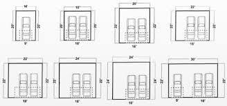 2 car garage door dimensionsGarage Appealing standard garage size ideas Standard Garage Size