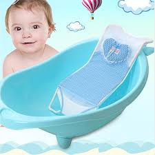 2019 baby bath tub seat net baby bathbub bed infant bathing tubs mesh shelf safety support anti slip multifunctional shower beds from orchidor
