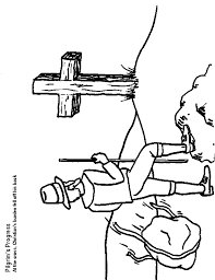 Pilgrims Progress Coloring Page 1