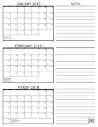 18 Best Blank January 2019 Calendar Printable Free Download Images