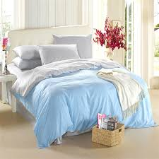 Light blue silver grey bedding set King size queen quilt doona ... & Light blue silver grey bedding set King size queen quilt doona duvet cover  double bed sheet bedspreads bedroom linen 100% cotton-in Bedding Sets from  Home ... Adamdwight.com