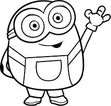 Bye Bye Bob From Minions Coloring Page Wecoloringpagecom