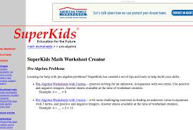 superkids pre algebra worksheets