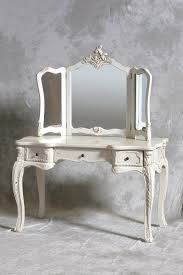 Shabby Chic White Bedroom Furniture A Chateau French Antique Style Cream Dressing Table 3 Fold