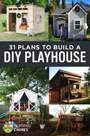 31 free diy playhouse plans to build for your kids secret hideaway noticeable easy play house