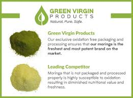 Moringa Comparison Chart Moringa Oleifera Green Virgin Products Green Virgin Products