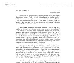 example of satirical essay madrat co example of satirical essay