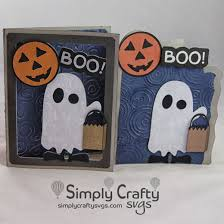 Halloween card and box svg files for using with your electronic cutting machines,. Boo Halloween Card Svg File Simply Crafty Svgs