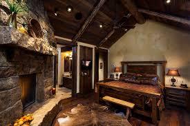 foxtail residence big sky log cabin master bedroom