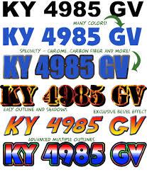 boat registration numbers standard