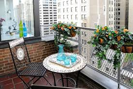 small balcony decorating ideas with an