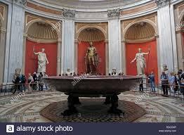 Sala Rotonda Musée Du Vatican Cité Du Vatican Italie Banque D