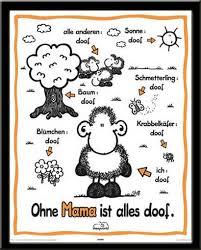 Sheepworld Ohne Mama Mini Poster 40x50