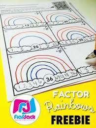 Factor Rainbow Worksheet Teachers Pay Teachers