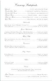 Wedding Programs Template Free Sample Wedding Program Template