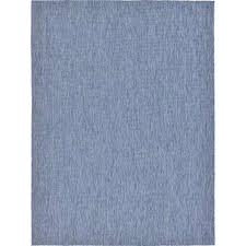 outdoor solid blue 9 0 x 12 0 area rug