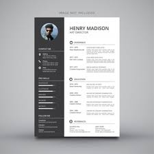 Modern Digital Resume Design Cv Template Vectors Photos And Psd Files Free Download