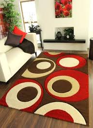 red and cream rug modern red and brown geometric rug red cream and grey rugs