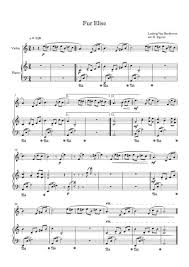 Free printable sheet music for für elise by ludwig van beethoven for easy violin solo with piano accompaniment. Fur Elise Ludwig Van Beethoven For Violin Piano Sheet Music Pdf Download Sheetmusicdbs Com