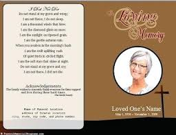 Funeral Remembrance Cards Template Memorial Card Template Funeral