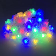find more solar lamps information about solar lights 6m 30leds colorful rose holiday party garden