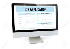 online job application resumes tips online job application modern job search online concept render of a computer job online