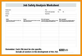 Job Safety Analysis Template Free Unique Form Template Maker Free Templates Jha Jsa Western Australia
