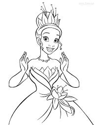 Princess Tiana Coloring Pages Getcoloringpagescom