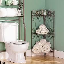 wrought iron bathroom shelf. Home Designs:Bathroom Corner Shelf Fancy Brown Painted Wrought Iron For Bathroom Using R
