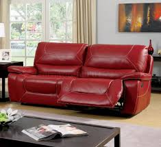 Newburg Reclining Sofa CM6814RD in Red Leather Match w/Options