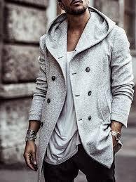 Fashionable <b>Men's Autumn</b> & <b>Winter</b> Pure Color Jacket <b>Cotton</b> Coat ...