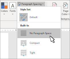 Apa Line Spacing Single Space The Lines In A Document Office Support