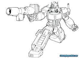 Transformers Optimus Prime Coloring Pages Transformer Coloring Pages