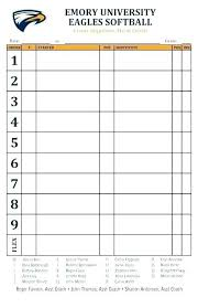X Printable Baseball Position Sheet Best Templates Roster