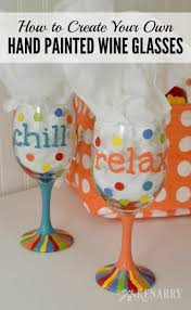 Diy Glass Cup Designs Hand Painted Wine Glasses How To Make Your Own