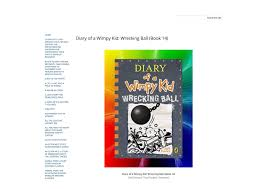 Light Blue Diary Of A Wimpy Kid Book Download Diary Of A Wimpy Kid Wrecking Ball Book 14 By