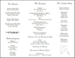 sample wedding program wording example of wedding programs wedding program back side tea