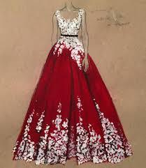 Beautiful Dress Drawings By Dubai Fashion Designer 3alya Sketch