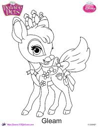 Small Picture prinxess palace pets printable coloring page Gleam Princess
