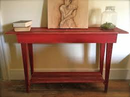 red hallway table. red hall table hallway interior and furniture design ideas