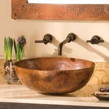 maestro oval copper vessel bathroom sink  native trails
