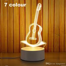 2019 3d led night light change novelty table l home decor bedside 3d l child gifts 2018 new guitar from hongxinled 7 04 dhgate