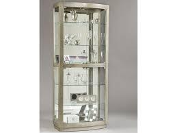 Glass Curio Cabinets With Lights Pulaski Furniture Curios Platinum Curio Cabinet Gill Brothers