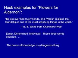 Flowers For Algernon Quotes Simple Algernon Paper Structure