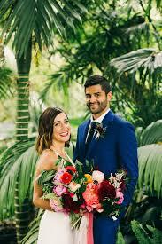 stylish and colorful california wedding at the san go botanic gardens junebug weddings